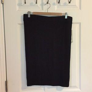 Apt 9 Black Lined Pencil Skirt